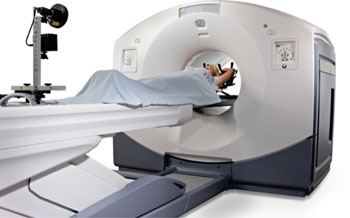 Image: The Discovery IQ PET-CT device (Photo courtesy of GE Healthcare).