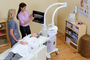 Image: The Invenia automated breast ultrasound system (ABUS) provides a more enhanced patient experience and effective diagnosis than mammography alone in women with dense breasts (Photo courtesy of GE Healthcare).