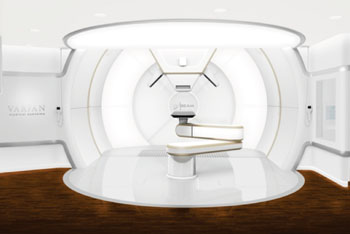 Image: The ProBeam system treatment room (Photo courtesy of Varian Medical Systems).