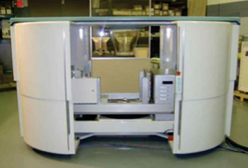 Image: Koning Breast CT (KBCT) with Standard Safety Cover (Photo courtesy of Koning Corporation).
