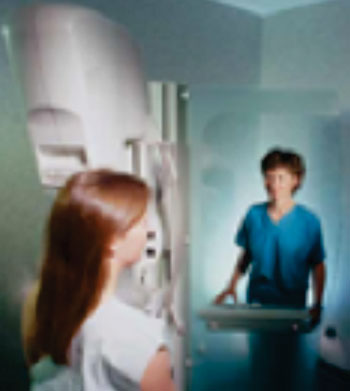 Image: A Mammography Exam (Photo courtesy of RadiologyInfo).