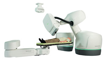 Image: CyberKnife Stereotactic Body Radiation Therapy System (Photo courtesy of Accuray).