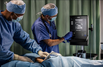 Image: The SonoSite SII portable, mountable ultrasound system (Photo courtesy of Fujifilm SonoSite).